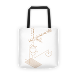 Exploded Beer Tap and Snifter Tote Bag