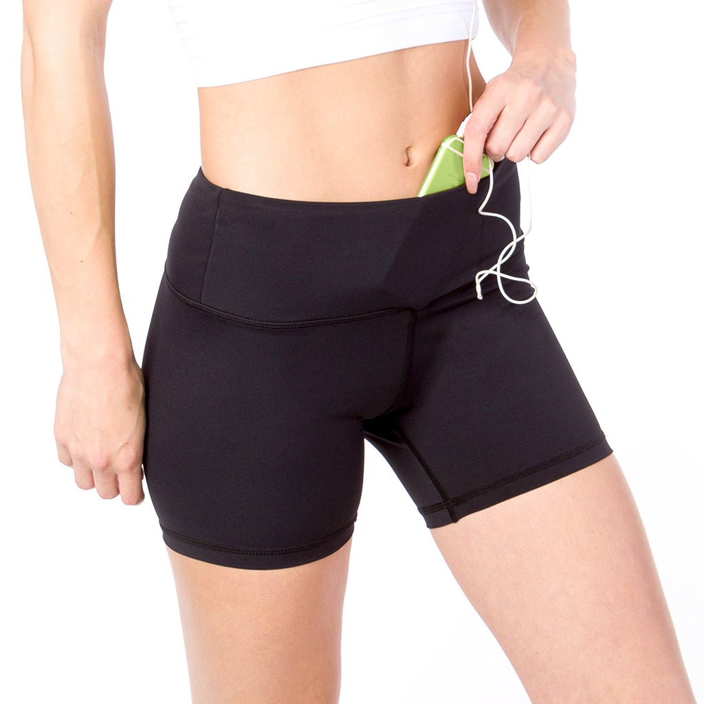 Go Sport-it: YOGA SHORTS with Pocket and Tummy Control