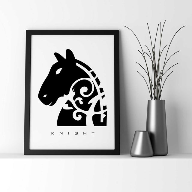 KNIGHT (Horse) - Chess Piece - Wall Decor