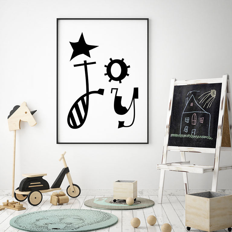 JOY - For Girl or Boys Room - Wall Decor