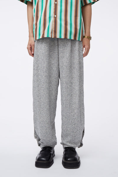 Needle In The Sea - Geoff Double Layer Warm Up Open Shorts Silver Heaven Plaid