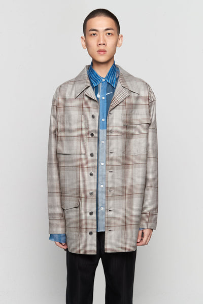 Needle In The Sea - Wil Oversized Shirt Silver Soil Oversized Plaids