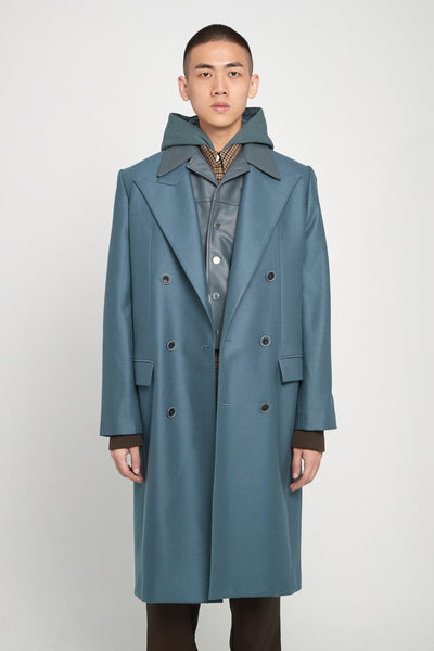Closed Window - Zen Tailored Double Breast Coat Glacier Blue