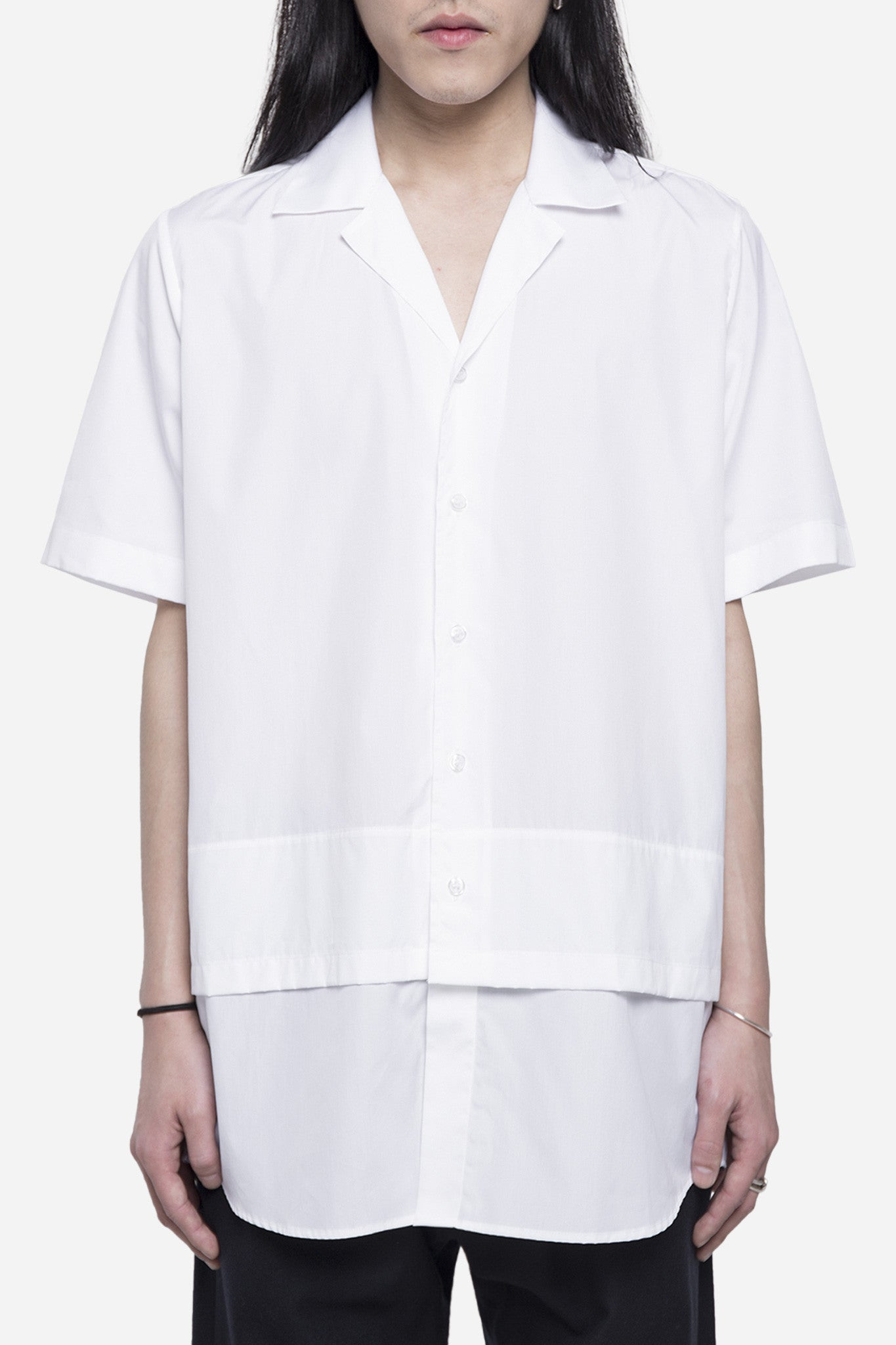 Hunter Double Layer Shirt White