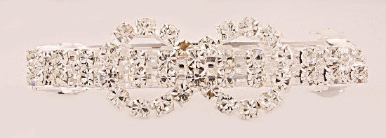 French Automatic Barrette w/ Swarovski Crystals 595