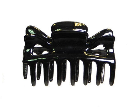Small Basic Patent Cover Hair Claw Black 9744