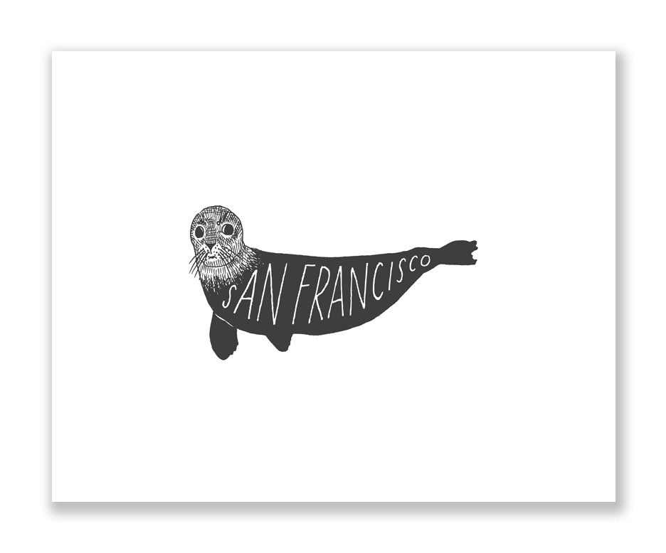 """San Francisco Seal"" Print"