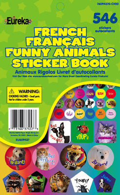 French Funny Animals Stickerbook