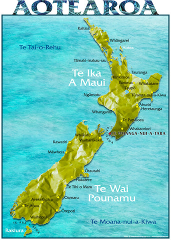 A3 Te Reo Map of New Zealand