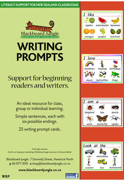Writing Prompts - Laminated