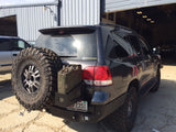 Toyota Land Cruiser 200 Rear bumper with tire carrier.