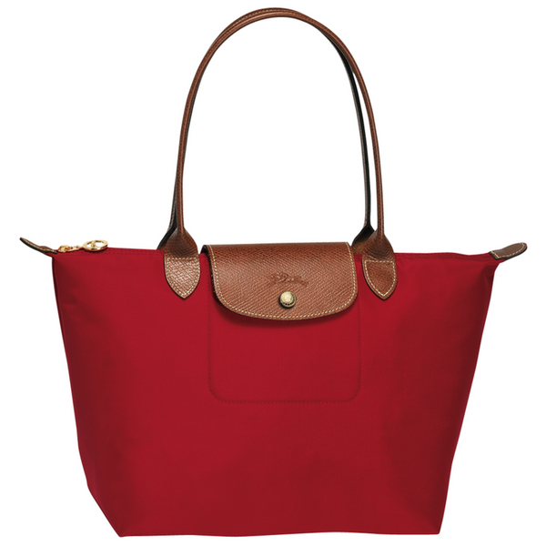 Longchamp - Le Pliage Long Handle Small Tote Bag in Red
