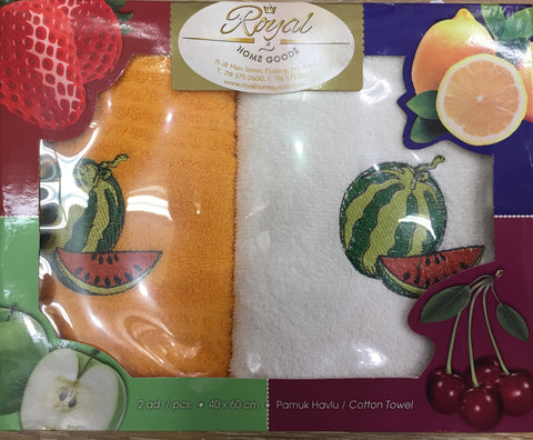 """FRUIT""2Pcs Kitchen Towels Set"