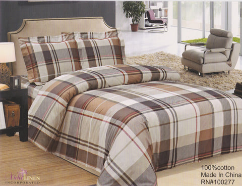 "French Brown Plaid 39""-48"""