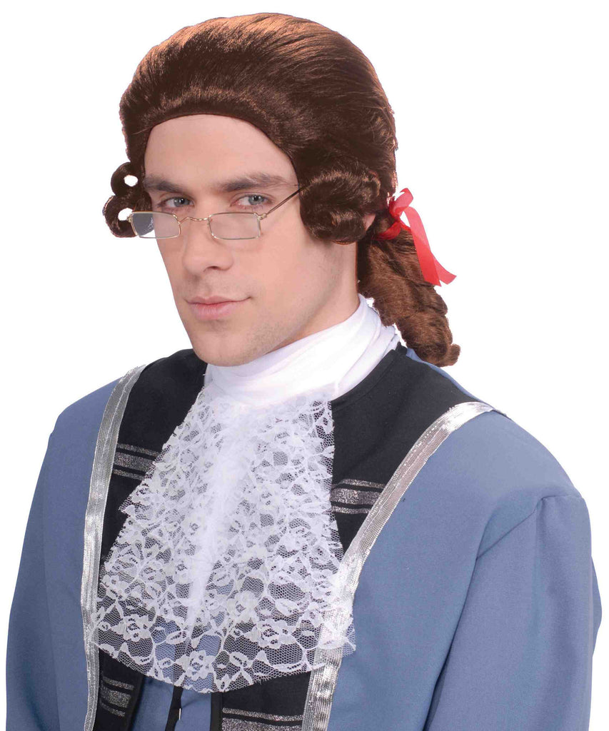 Wig-Men's Colonial-Brown - HalloweenCostumes4U.com - Accessories