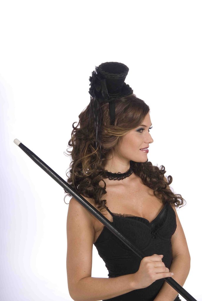 Mini Hats Black Victorian Top Hat - HalloweenCostumes4U.com - Accessories