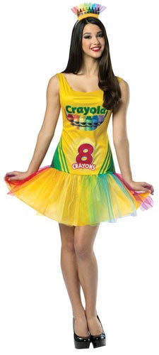 Womens Crayon Box Dress - HalloweenCostumes4U.com - Adult Costumes