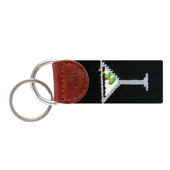 Martini Key Fob- Black by Smathers & Branson
