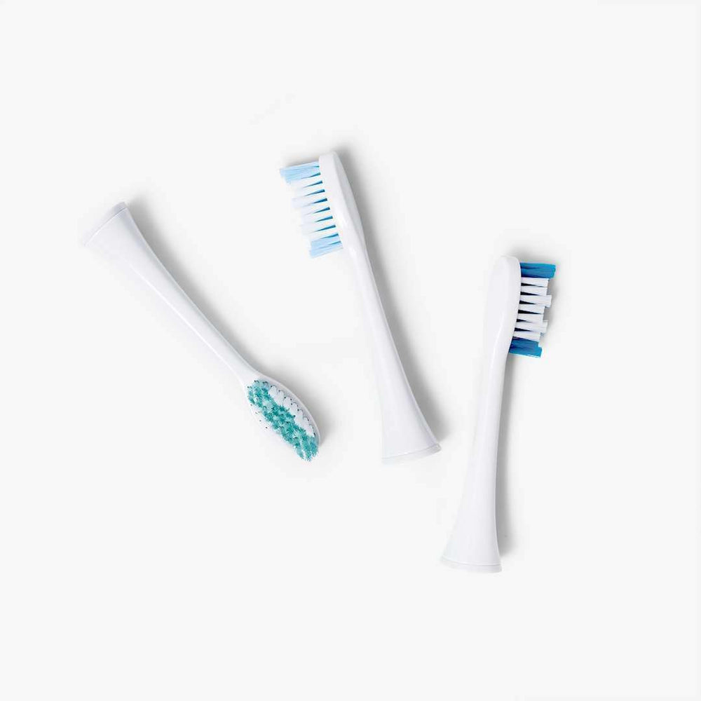 3-pack of large replacement brush heads | for Elements Sonic Toothbrush - Black Friday
