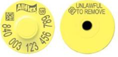 Allflex USDA 840 Visual Tamperproof Round Ear Tag and Button