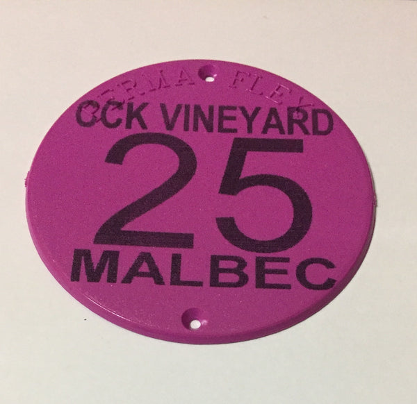 Perma Flex Custom Round Tag for Orchards, Vineyards or Industry