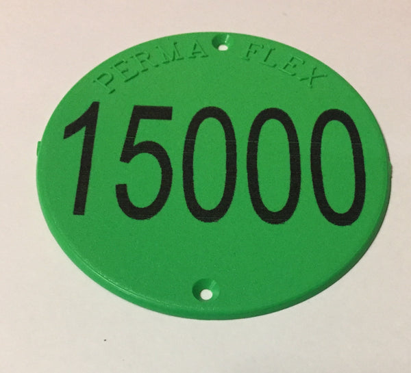 Perma Flex Numbered Round Tag for Orchards, Vineyards or Industry