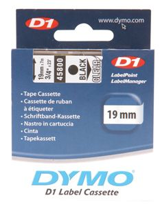 Dymo Black on Colour 19mmx7m Tape