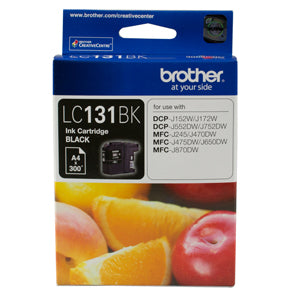 Brother LC131 Black Ink Cart - Out Of Ink
