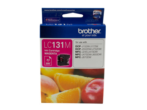 Brother LC131 Magenta Ink Cart - Out Of Ink