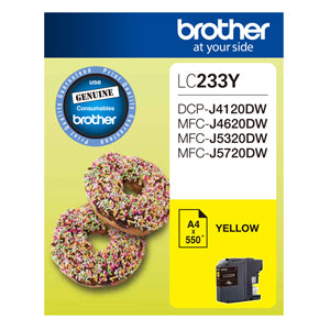 Brother LC233 Yellow Ink Cart - Out Of Ink