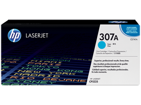 HP CE741A Cyan Toner Cartridge - 7,300 pages