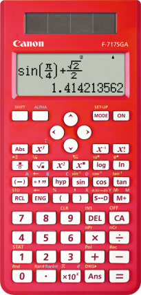 Canon F717SGA Calculator  - Red