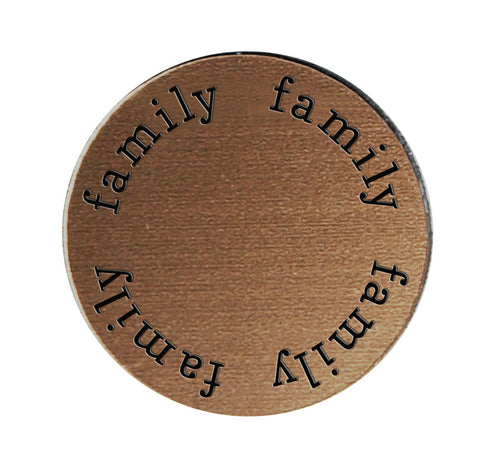 FAMILY Inspirational BRONZE Locket Plate ~Choose Your Size!