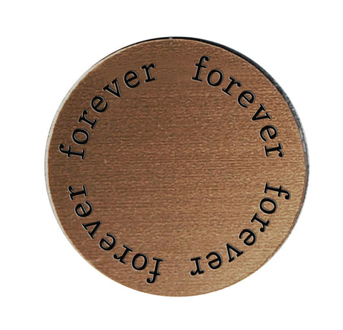 FOREVER Inspirational BRONZE Locket Plate ~Choose Your Size!