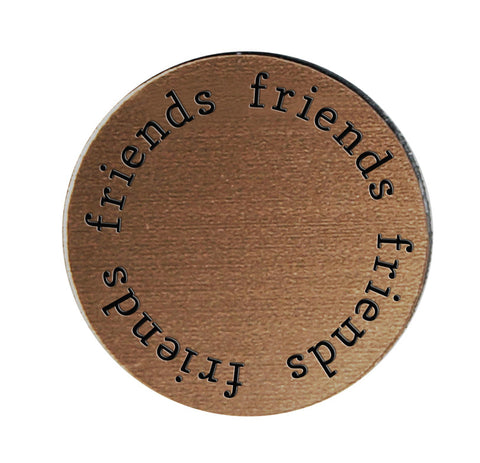 FRIENDS Inspirational BRONZE Locket Plate ~Choose Your Size!