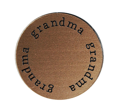 GRANDMA Inspirational BRONZE Locket Plate ~Choose Your Size!