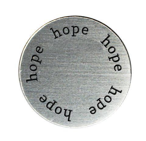 HOPE Inspirational Silver Locket Plate ~Choose Your Size!