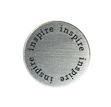 INSPIRE Inspirational Silver Locket Plate ~Choose Your Size!