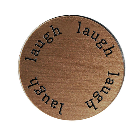 LAUGH Inspirational BRONZE Locket Plate ~Choose Your Size!