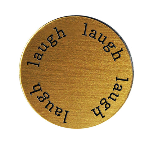 LAUGH Inspirational GOLD Locket Plate ~Choose Your Size!