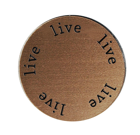 LIVE Inspirational BRONZE Locket Plate ~Choose Your Size!