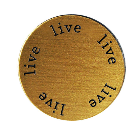 LIVE Inspirational GOLD Locket Plate ~Choose Your Size!