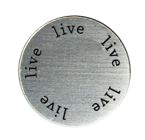 LIVE Inspirational Silver Locket Plate ~Choose Your Size!