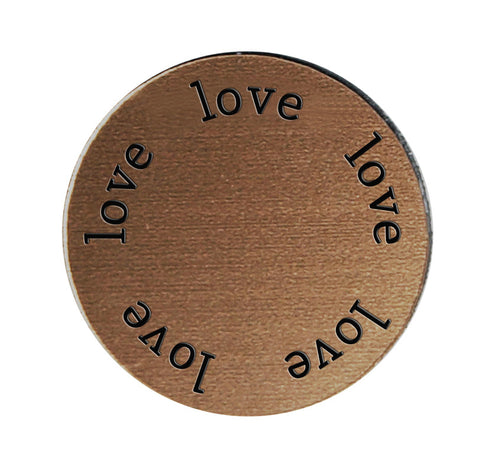 LOVE Inspirational BRONZE Locket Plate ~Choose Your Size!