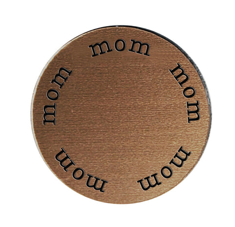MOM Inspirational BRONZE Locket Plate ~Choose Your Size!