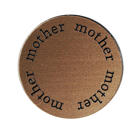 MOTHER Inspirational BRONZE Locket Plate ~Choose Your Size!