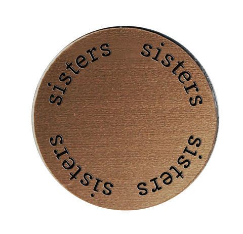 SISTERS Inspirational BRONZE Locket Plate ~Choose Your Size!