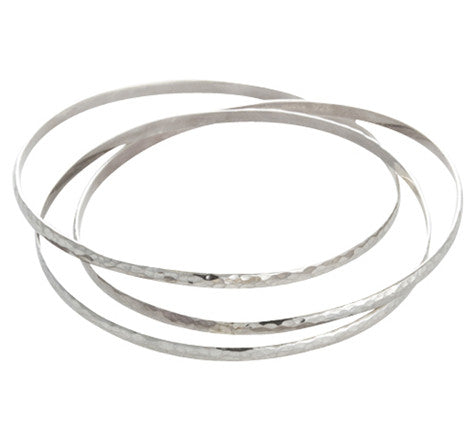 Russian, Forged, Bangles, Silver, Kerry Rocks, Jewellery