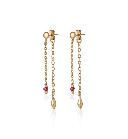 Aurelia Stud, Ruby, Gold