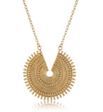 Ancient Sun Necklace, Gold